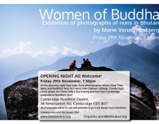 Women of Buddha Exhibition at Cambridge Buddhist Centre